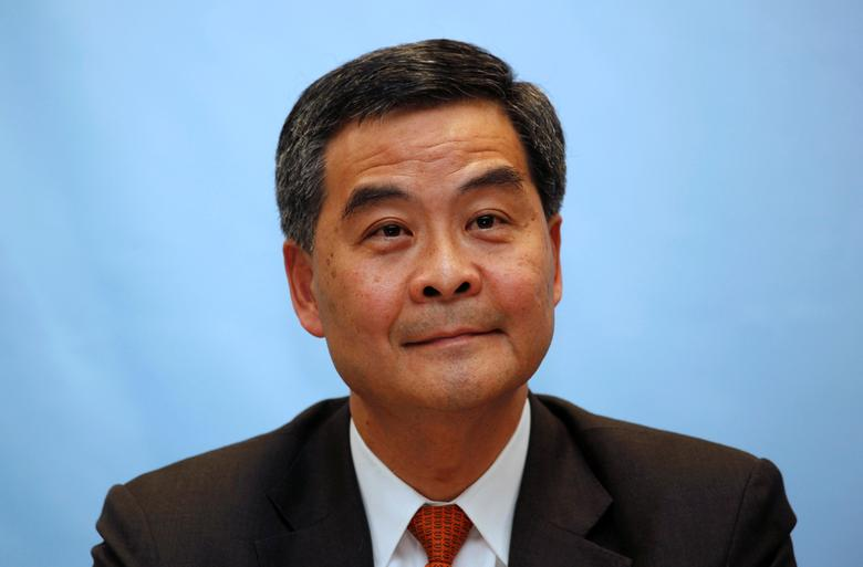 Prominent surveyor and former government advisor Leung Chun-ying attends a forum for chief executive candidates in Hong Kong March 12, 2012.    REUTERS/Bobby Yip/File Photo