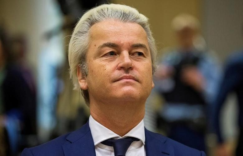 Dutch far-right Party for Freedom (PVV) leader Geert Wilders sits in a courtroom of the courthouse in Schiphol, Netherlands March 18, 2016. REUTERS/Michael Kooren/File Photo
