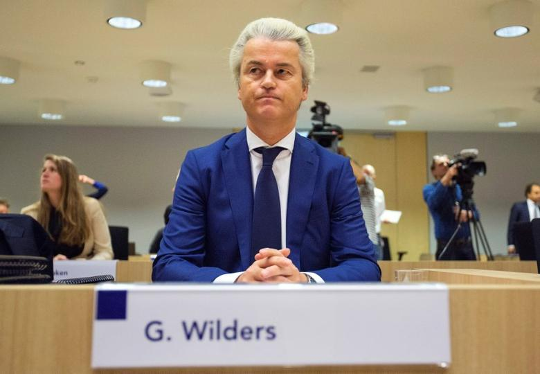 Dutch far-right Party for Freedom (PVV) leader Geert Wilders sits in a courtroom of the courthouse in Schiphol, Netherlands March 18, 2016. REUTERS/Michael Kooren/Files