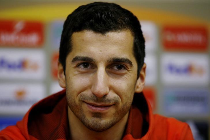 Football Soccer - Manchester United Press Conference - Chornomorets Stadium, Odessa, Ukraine - 7/12/16 Manchester United's Henrikh Mkhitaryan during the press conference Action Images via Reuters / Peter Cziborra Livepic