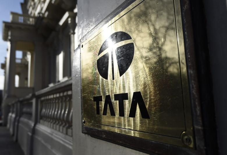 A Tata sign is seen outside their offices in London, Britain March 30, 2016. REUTERS/Toby Melville
