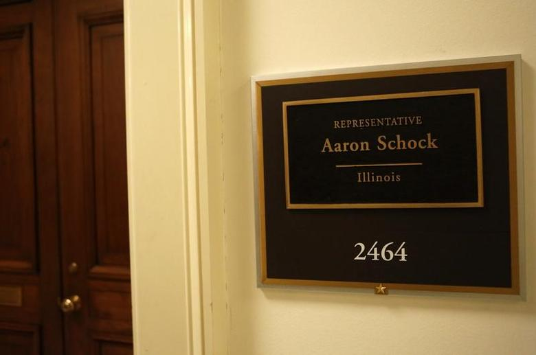 The office of Representative Aaron Schock (R-IL) is seen on Capitol Hill in Washington March 17, 2015. REUTERS/Yuri Gripas