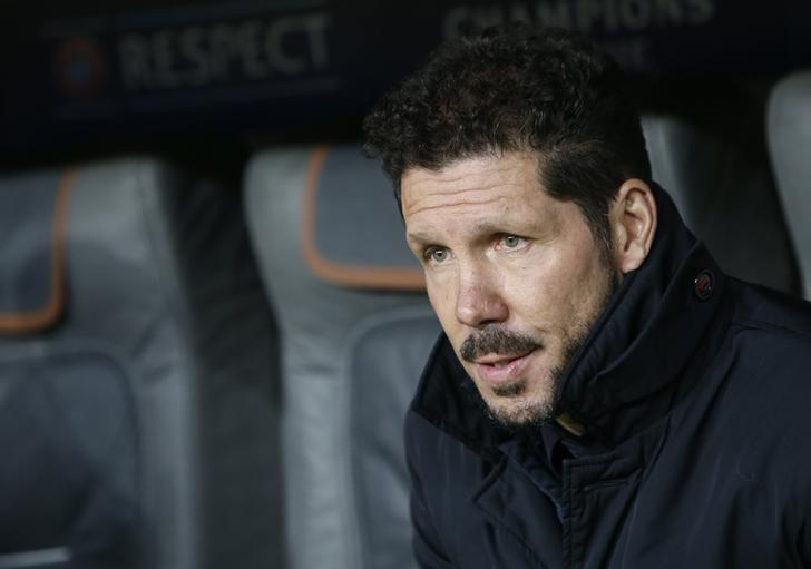 Football Soccer - Bayern Munich v Atletico Madrid - UEFA Champions League Group Stage - Group D - Allianz Arena, Munich, Germany - 06/12/16 - Atletico Madrid's coach Diego Simeone before the match .    REUTERS/Michaela Rehle/Files