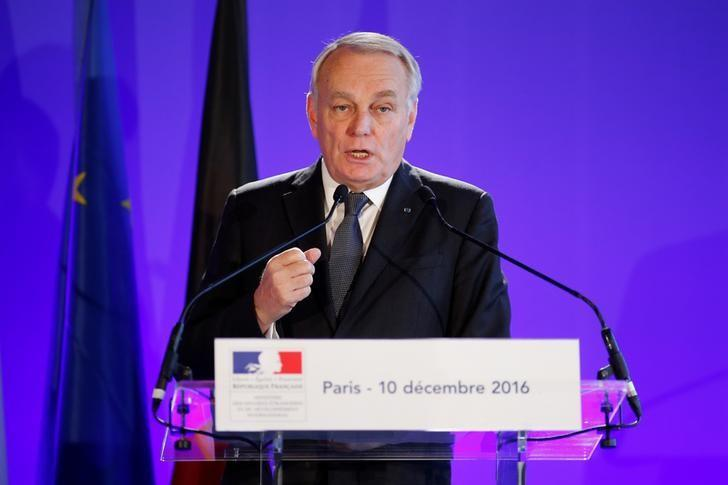 France's Foreign Minister Jean Marc Ayrault attends a news conference after a meeting in Paris, France December 10, 2016. REUTERS/Benoit Tessier