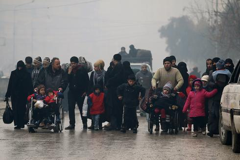 Fleeing deeper into rebel-held Aleppo