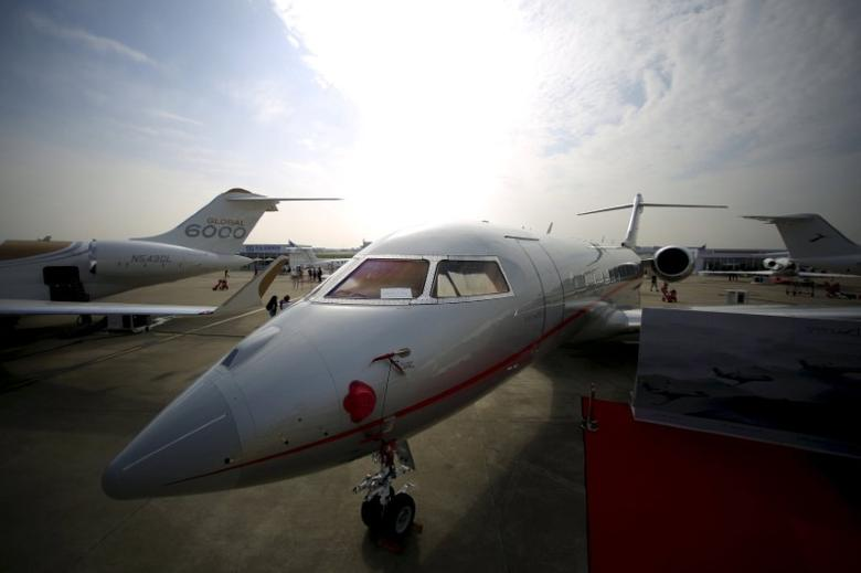 A VistaJet aircraft is seen at the Asian Business Aviation Conference and Exhibition (ABACE) at Hongqiao International Airport in Shanghai, China, in this April 11, 2016 file photo. REUTERS/Aly Song/Files