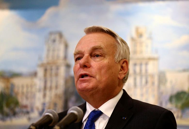 French Foreign Minister Jean-Marc Ayrault speaks during a news briefing after the talks on the crisis in eastern Ukraine in Minsk, Belarus, November 29, 2016. REUTERS/Vasily Fedosenko