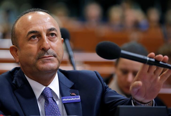 Turkey's Foreign Minister Mevlut Cavusoglu arrives to address the Parliamentary Assembly of the Council of Europe in Strasbourg, France, October 12, 2016. REUTERS/Vincent Kessler