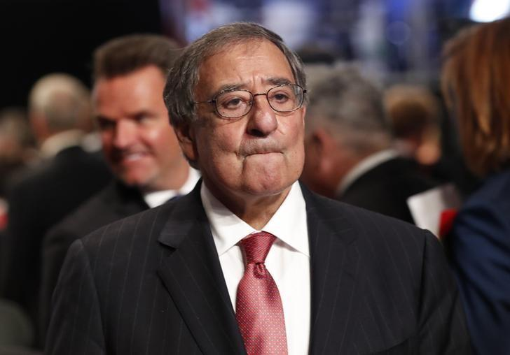 Former Director of the Central Intelligence Agency Leon Panetta waits for the start of the third and final debate between Republican U.S. presidential nominee Donald Trump and Democratic nominee Hillary Clinton at UNLV in Las Vegas, Nevada, U.S., October 19, 2016.  REUTERS/Rick Wilking