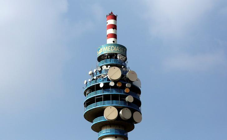 The Mediaset tower is seen in Cologno Monzese neighbourhood Milan, Italy, in this April 7, 2016.  REUTERS/Stefano Rellandini/Files