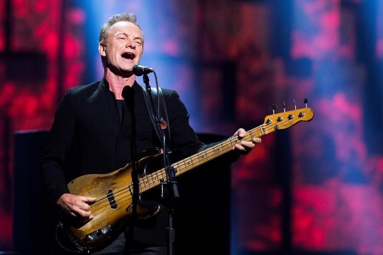 English singer Sting performs during the 2016 Nobel Peace Prize Concert at Telenor Arena in Oslo, Norway, December 11, 2016. REUTERS/Jon Olav Nesvold/NTB Scanpix