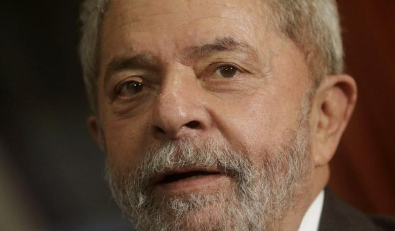 File photo: Brazil's former President Luiz Inacio Lula da Silva reacts during a meeting with Rio de Janeiro's Governor Luiz Fernando Pezao in Rio de Janeiro, Brazil December 3, 2015. REUTERS/Ricardo Moraes/File Photo
