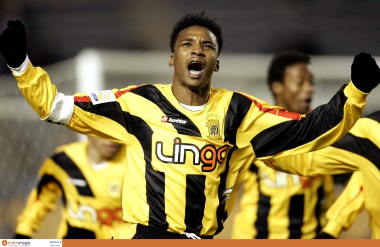 Mohammed Noor celebrates scoring the winning goal for Al Ittihad Mandatory Credit: Action Images / John Sibley