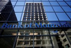 A Bank of Montreal (BMO) sign is seen outside of a branch in Ottawa, Ontario, Canada, August 23, 2016. REUTERS/Chris Wattie - RTX2MQH2