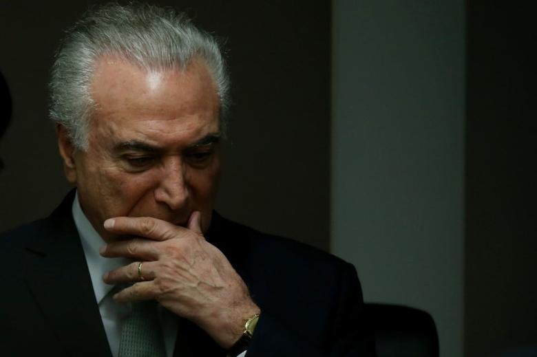 Brazil's President Michel Temer attends the inauguration ceremony of Federal Accounts Court President (TCU) Raimundo Carreiro in Brasilia, Brazil, December 14, 2016. REUTERS/Adriano Machado