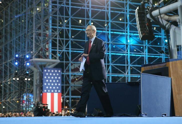 John Podesta, chairman of the 2016 Hillary Clinton presidential campaign, departs after addressing the crowd at Democratic U.S. presidential nominee Hillary Clinton's election night rally in New York, U.S., November 9, 2016.       REUTERS/Carlos Barria