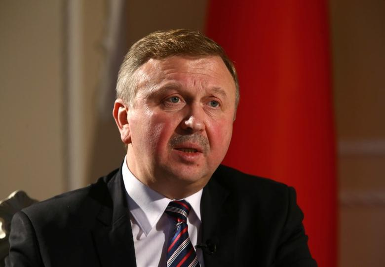 Belarussian Prime Minister Andrei Kobyakov speaks during an interview with Reuters in Minsk, Belarus, December 19, 2016. Picture taken December 19, 2016. REUTERS/Vasily Fedosenko