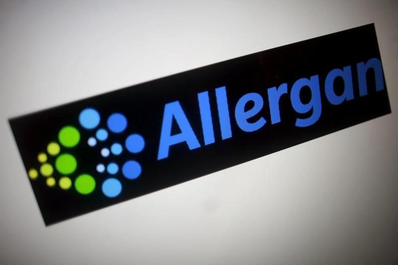 The Allergan logo is seen in this photo illustration November 23, 2015.  REUTERS/Thomas White/Illustration/File Photo