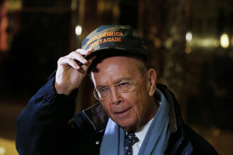 Billionaire investor Wilbur Ross, chairman of Invesco Ltd subsidiary WL Ross & Co, departs Trump Tower after a meeting with U.S. President-elect Donald Trump in New York, U.S., November 29, 2016.   REUTERS/Lucas Jackson