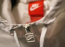 A Nike logo is seen on a jacket in the Nike store in Santa Monica, California, September 25, 2013. REUTERS/Lucy Nicholson