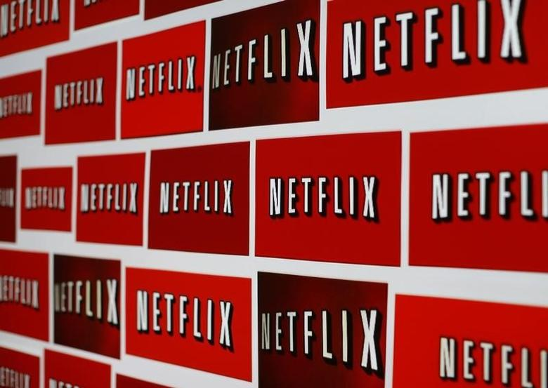 The Netflix logo is shown in this illustration photograph in Encinitas, California October 14, 2014.  REUTERS/Mike Blake/Files