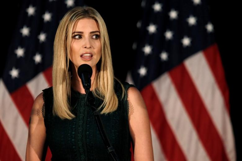 Ivanka Trump, daughter of Republican presidential nominee Donald Trump, speaks at a campaign event in Aston, Pennsylvania, U.S., September 13, 2016.  REUTERS/Mike Segar