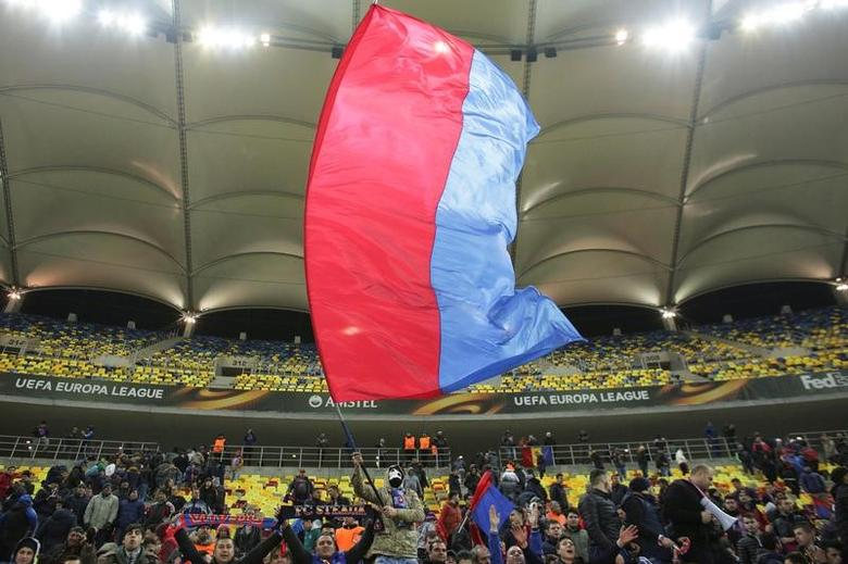 Football Soccer - Steaua Bucharest v Osmanlispor - UEFA Europa League group stage - Group L - National Arena, Bucharest, Romania  - 24/11/2016 Fans of Steaua Bucharest react at the end of the match. Inquam Photos/Octav Ganea/via REUTERS