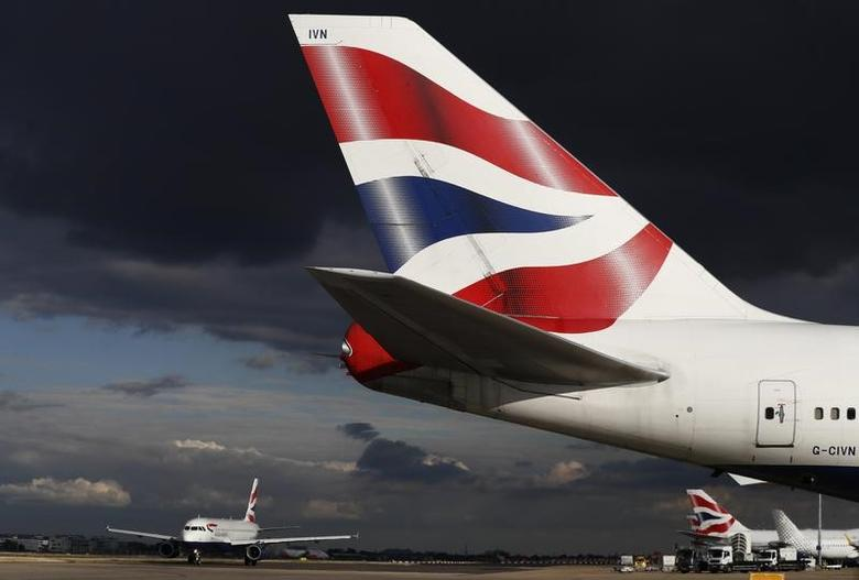British Airways aircraft taxi at Heathrow Airport near London, Britain October 11, 2016. REUTERS/Stefan Wermuth/File Photo