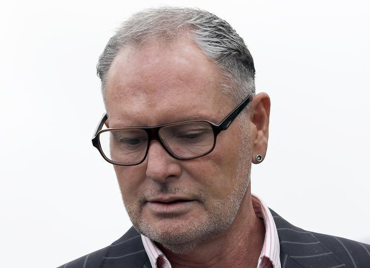 Former England soccer player Paul Gascoigne arrives at Dudley Magistrates Court, Britain, September 19, 2016.  REUTERS/Darren Staples/Files
