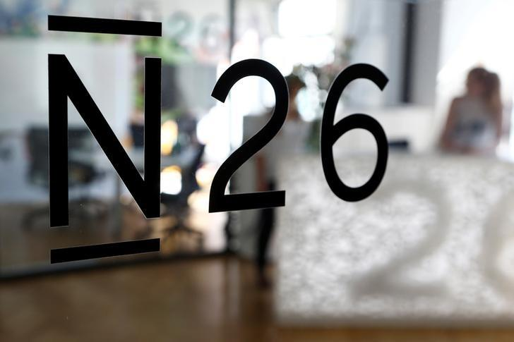 The logo of the Fintech N26 (Number26), seen in the N26 office in Berlin, Germany, August 19, 2016.    REUTERS/Axel Schmidt/File Photo