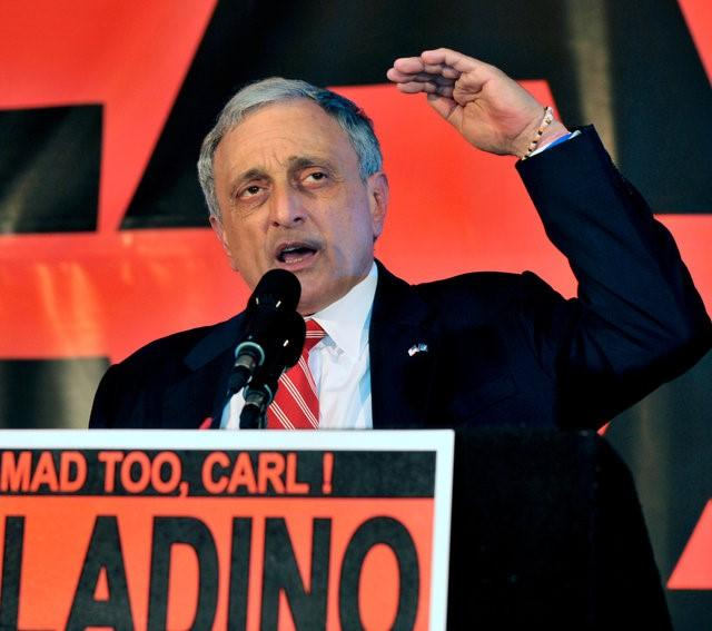 Carl Paladino concedes to a crowd in Buffalo November 2, 2010  in Albany. REUTERS/Gary Wiepert/File Photo