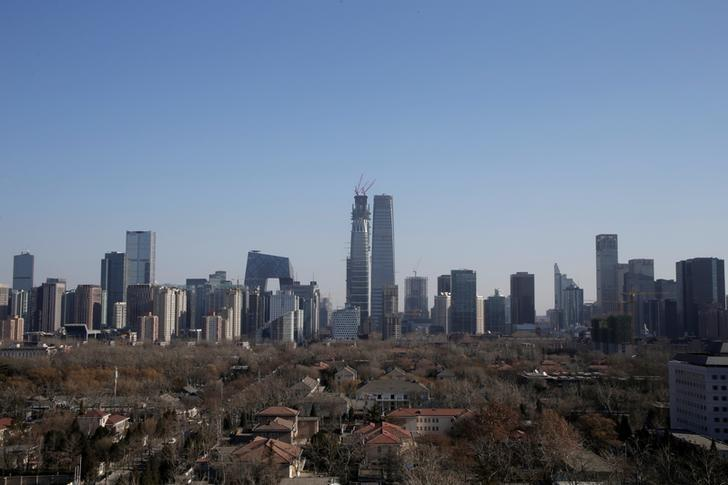 Buildings are seen against blue sky in Beijing, China, December 22, 2016.   REUTERS/Jason Lee