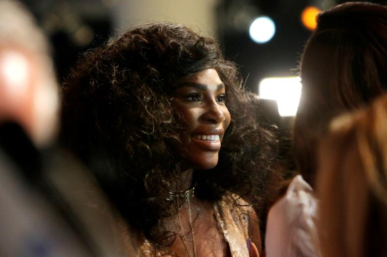 File Photo : Tennis player Serena Williams speaks to the media as she arrives to present the Serena Williams Signature Statement Fall Collection at New York Fashion Week in Manhattan, New York, U.S., September 12, 2016.  REUTERS/Andrew Kelly/File Photo