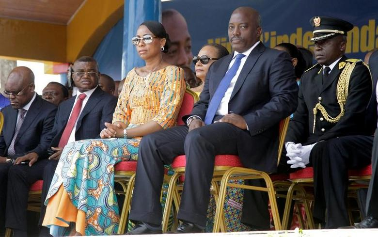 Democratic Republic of the Congo's President Joseph Kabila and First Lady Marie Olive Lembe attend the anniversary celebrations of CongoÕs independence from Belgium in Kindu, the capital of Maniema province in the Democratic Republic of Congo, June 30, 2016. REUTERS/Kenny Katombe/File Photo