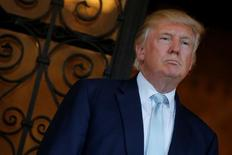 Presidente eleito dos EUA, Donald Trump, em Palm Beach, na Flórida. 28/12/2016 REUTERS/Jonathan Ernst