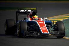 Formula One - Australia Grand Prix - 20/03/16 - Manor Racing F1 driver Rio Haryanto drives during the Australian Formula One Grand Prix in Melbourne.   REUTERS/Jason Reed