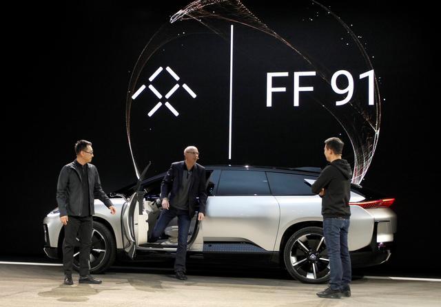 Faraday Future prototype on display. (Reuters photo)
