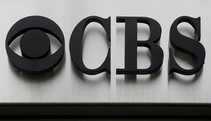 The CBS ''eye'' and logo are seen outside the CBS Broadcast Center on West 57th St. in Manhattan, New York, U.S. on April 29, 2016.  REUTERS/Brendan McDermid/File Photo