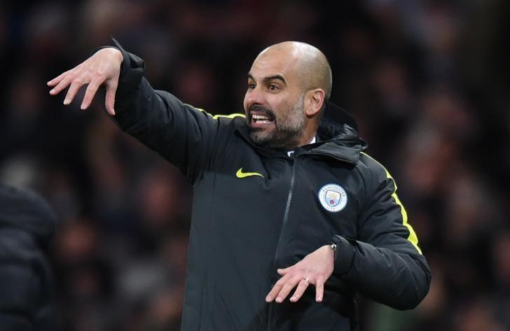 Britain Football Soccer - Manchester City v Burnley - Premier League - Etihad Stadium - 2/1/17 Manchester City manager Pep Guardiola  Reuters / Anthony Devlin Livepic