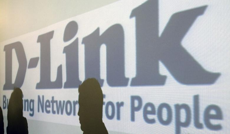 Shadows are cast on the D-link logo in the company's headquarters in Taipei February 17, 2009. REUTERS/Pichi Chuang