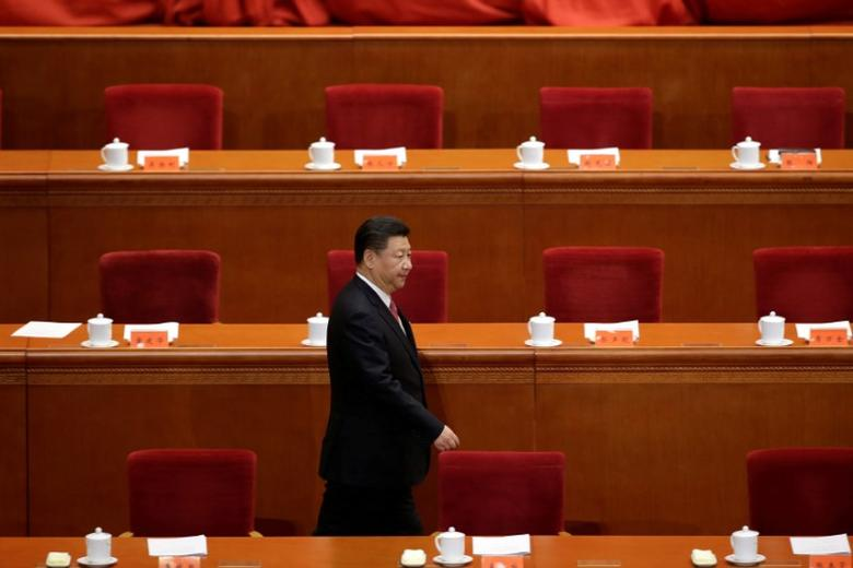 China's President Xi Jinping arrives to attend a conference commemorating the 150th birth anniversary of Sun Yat-Sen, widely recognised as the father of modern China, at the Great Hall of the People  in Beijing, China, November 11, 2016. REUTERS/Jason Lee/File Photo