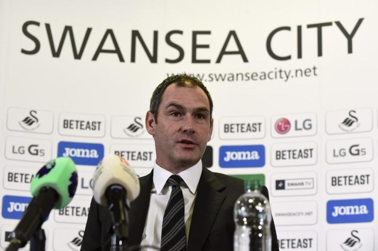 Britain Football Soccer - Swansea City - Paul Clement Press Conference - Liberty Stadium - 5/1/17 New Swansea City manager Paul Clement during the press conference Reuters / Rebecca Naden Livepic