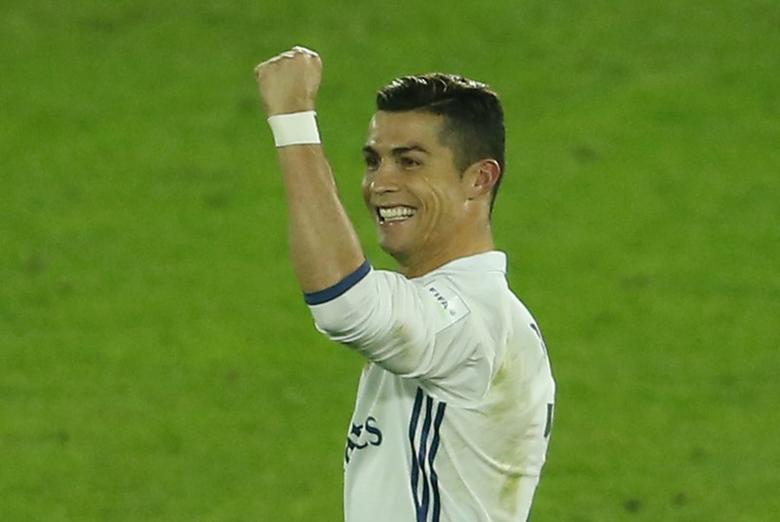 Real Madrid's Cristiano Ronaldo celebrates scoring their fourth goal Reuters / Issei Kato