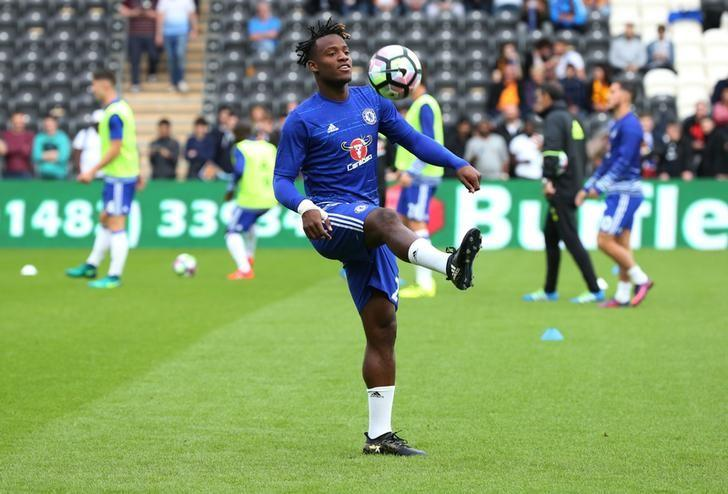 Britain Soccer Football - Hull City v Chelsea - Premier League - The Kingston Communications Stadium - 1/10/16Chelsea's Michy Batshuayi during the warm up before the gameReuters / Scott HeppellLivepic/Files