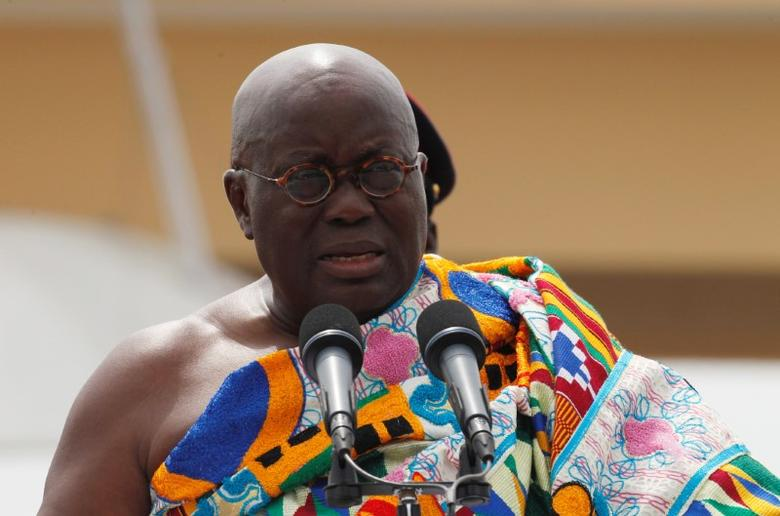 Ghana's President Nana Akufo-Addo speaks during his swearing-in ceremony at Independence Square in Accra, Ghana January 7, 2017. REUTERS/Luc Gnago