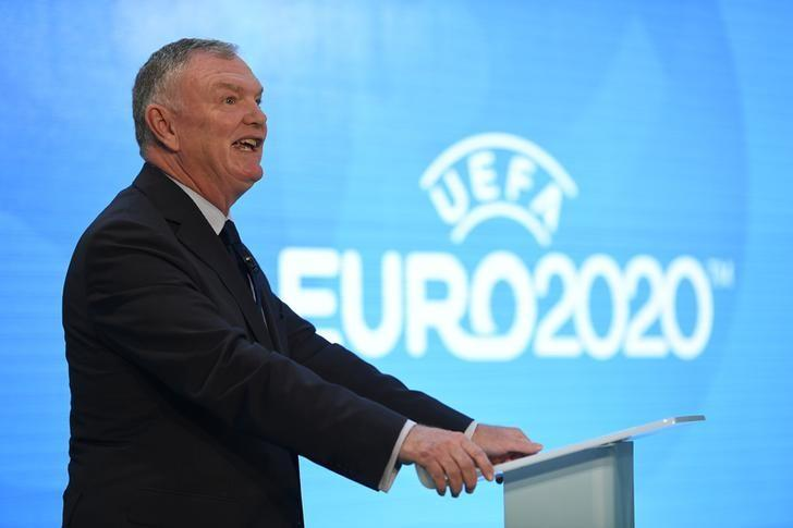 Britain Football Soccer - UEFA EURO 2020 Launch Event - London City Hall - 21/9/16FA Chairman Greg Clarke during the launch. Action Images via Reuters / Tony O'BrienLivepic/Files