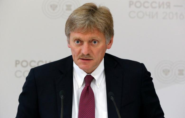 Kremlin spokesman Dmitry Peskov speaks during a news briefing on the sidelines of the Russia-ASEAN summit in Sochi, Russia, May 19, 2016. REUTERS/Sergei Karpukhin