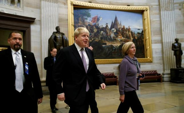 British Foreign Secretary Boris Johnson walks through the Rotunda of the U.S. Capitol in Washington January 9, 2017. REUTERS/Kevin Lamarque