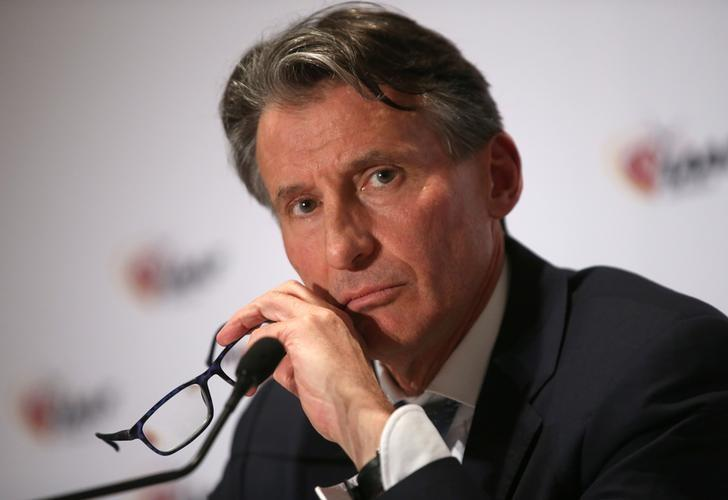 Sebastian Coe, IAAF's President, attends a press conference as part of the International Association of Athletics Federations (IAAF) council meeting in Monaco, December 1, 2016.  REUTERS/Eric Gaillard