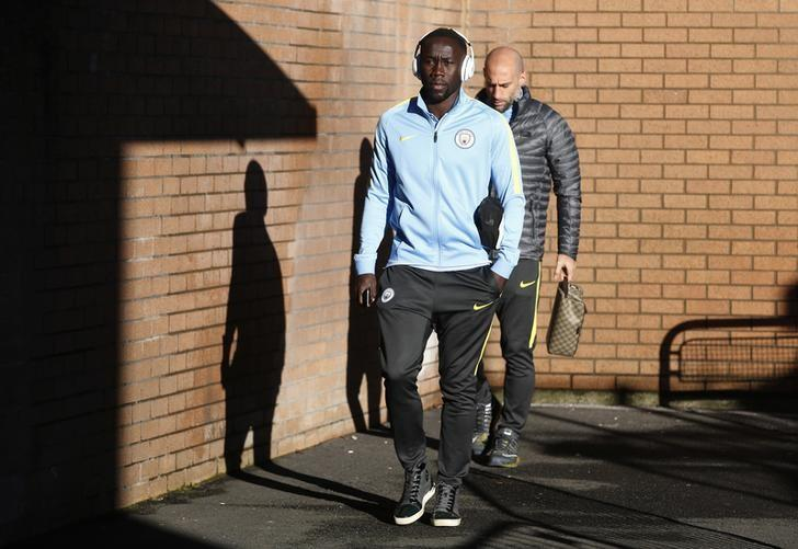 Football Soccer Britain - Burnley v Manchester City - Premier League - Turf Moor - 26/11/16 Manchester City's Bacary Sagna arrives before the match  Reuters/Andrew Yates Livepic